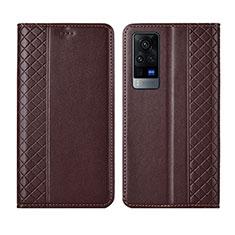Handytasche Stand Schutzhülle Flip Leder Hülle L02 für Vivo X60 Pro 5G Braun