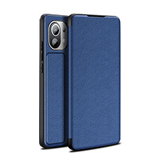 Handytasche Stand Schutzhülle Flip Leder Hülle L02 für Xiaomi Mi 11 5G Blau
