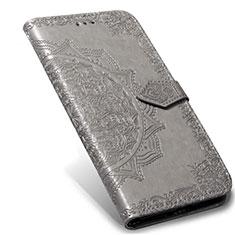Handytasche Stand Schutzhülle Flip Leder Hülle L02 für Xiaomi Mi Note 10 Lite Grau
