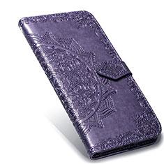 Handytasche Stand Schutzhülle Flip Leder Hülle L02 für Xiaomi Mi Note 10 Lite Violett