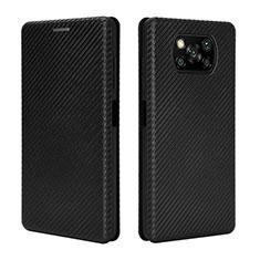Handytasche Stand Schutzhülle Flip Leder Hülle L02 für Xiaomi Poco X3 NFC Schwarz