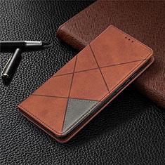 Handytasche Stand Schutzhülle Flip Leder Hülle L02 für Xiaomi Redmi 9 India Braun
