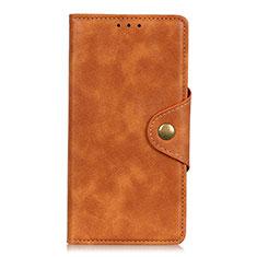 Handytasche Stand Schutzhülle Flip Leder Hülle L02 für Xiaomi Redmi Note 9 Pro Orange