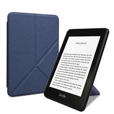 Handytasche Stand Schutzhülle Flip Leder Hülle L03 für Amazon Kindle 6 inch Blau