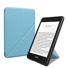 Handytasche Stand Schutzhülle Flip Leder Hülle L03 für Amazon Kindle 6 inch Hellblau