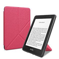 Handytasche Stand Schutzhülle Flip Leder Hülle L03 für Amazon Kindle 6 inch Pink