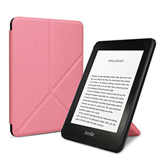 Handytasche Stand Schutzhülle Flip Leder Hülle L03 für Amazon Kindle 6 inch Rosa
