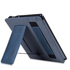 Handytasche Stand Schutzhülle Flip Leder Hülle L03 für Amazon Kindle Oasis 7 inch Blau