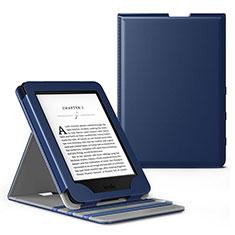 Handytasche Stand Schutzhülle Flip Leder Hülle L03 für Amazon Kindle Paperwhite 6 inch Blau