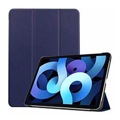 Handytasche Stand Schutzhülle Flip Leder Hülle L03 für Apple iPad Air 4 10.9 (2020) Königs Blau