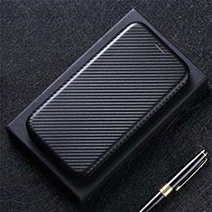Handytasche Stand Schutzhülle Flip Leder Hülle L03 für Google Pixel 5 Schwarz