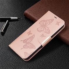 Handytasche Stand Schutzhülle Flip Leder Hülle L03 für Huawei P40 Lite E Rosegold