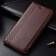 Handytasche Stand Schutzhülle Flip Leder Hülle L03 für LG G8 ThinQ Braun