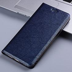 Handytasche Stand Schutzhülle Flip Leder Hülle L03 für Motorola Moto E7 Plus Blau