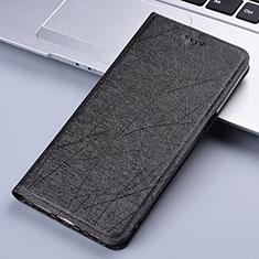 Handytasche Stand Schutzhülle Flip Leder Hülle L03 für Motorola Moto E7 Plus Schwarz