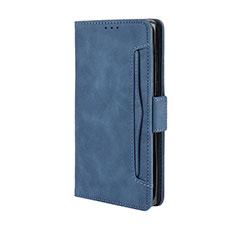 Handytasche Stand Schutzhülle Flip Leder Hülle L03 für Motorola Moto Edge Plus Blau