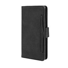 Handytasche Stand Schutzhülle Flip Leder Hülle L03 für Motorola Moto Edge Plus Schwarz