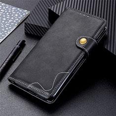 Handytasche Stand Schutzhülle Flip Leder Hülle L03 für Motorola Moto G 5G Schwarz