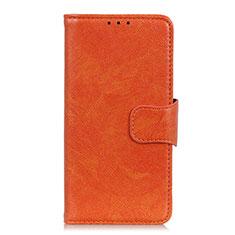Handytasche Stand Schutzhülle Flip Leder Hülle L03 für Motorola Moto G Fast Orange