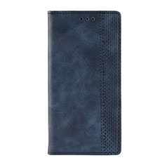 Handytasche Stand Schutzhülle Flip Leder Hülle L03 für Motorola Moto G9 Play Blau