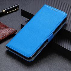 Handytasche Stand Schutzhülle Flip Leder Hülle L03 für Motorola Moto G9 Plus Hellblau