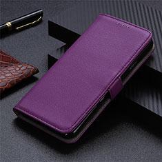 Handytasche Stand Schutzhülle Flip Leder Hülle L03 für Motorola Moto G9 Plus Violett