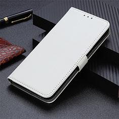 Handytasche Stand Schutzhülle Flip Leder Hülle L03 für Motorola Moto G9 Plus Weiß