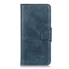 Handytasche Stand Schutzhülle Flip Leder Hülle L03 für Motorola Moto One Fusion Blau