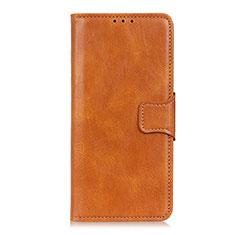 Handytasche Stand Schutzhülle Flip Leder Hülle L03 für Motorola Moto One Fusion Orange