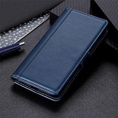 Handytasche Stand Schutzhülle Flip Leder Hülle L03 für Motorola Moto One Fusion Plus Blau