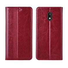 Handytasche Stand Schutzhülle Flip Leder Hülle L03 für Nokia 1.3 Rot