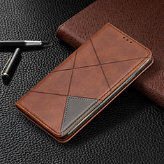 Handytasche Stand Schutzhülle Flip Leder Hülle L03 für Nokia 2.3 Braun