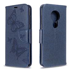Handytasche Stand Schutzhülle Flip Leder Hülle L03 für Nokia 6.2 Blau