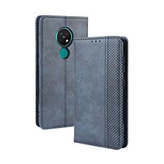 Handytasche Stand Schutzhülle Flip Leder Hülle L03 für Nokia 7.2 Blau