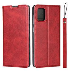 Handytasche Stand Schutzhülle Flip Leder Hülle L03 für Samsung Galaxy A51 4G Rot