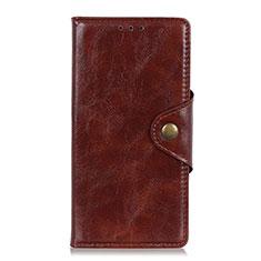 Handytasche Stand Schutzhülle Flip Leder Hülle L03 für Samsung Galaxy M21s Braun