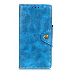 Handytasche Stand Schutzhülle Flip Leder Hülle L03 für Samsung Galaxy M31 Prime Edition Hellblau