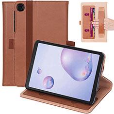 Handytasche Stand Schutzhülle Flip Leder Hülle L03 für Samsung Galaxy Tab A7 4G 10.4 SM-T505 Braun