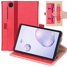 Handytasche Stand Schutzhülle Flip Leder Hülle L03 für Samsung Galaxy Tab A7 4G 10.4 SM-T505 Rot