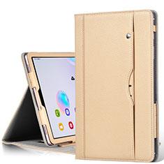 Handytasche Stand Schutzhülle Flip Leder Hülle L03 für Samsung Galaxy Tab S6 10.5 SM-T860 Gold