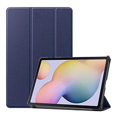 Handytasche Stand Schutzhülle Flip Leder Hülle L03 für Samsung Galaxy Tab S7 11 Wi-Fi SM-T870 Blau