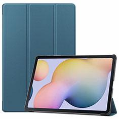 Handytasche Stand Schutzhülle Flip Leder Hülle L03 für Samsung Galaxy Tab S7 Plus 5G 12.4 SM-T976 Cyan