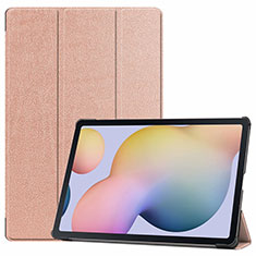 Handytasche Stand Schutzhülle Flip Leder Hülle L03 für Samsung Galaxy Tab S7 Plus 5G 12.4 SM-T976 Rosegold