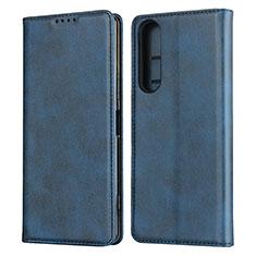 Handytasche Stand Schutzhülle Flip Leder Hülle L03 für Sony Xperia 1 II Blau