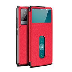 Handytasche Stand Schutzhülle Flip Leder Hülle L03 für Vivo X60 5G Rot