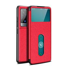 Handytasche Stand Schutzhülle Flip Leder Hülle L03 für Vivo X60 Pro 5G Rot