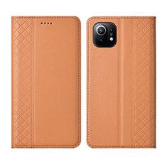 Handytasche Stand Schutzhülle Flip Leder Hülle L03 für Xiaomi Mi 11 5G Orange