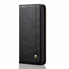 Handytasche Stand Schutzhülle Flip Leder Hülle L03 für Xiaomi Mi Note 10 Lite Schwarz