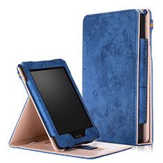 Handytasche Stand Schutzhülle Flip Leder Hülle L04 für Amazon Kindle Paperwhite 6 inch Blau