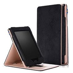 Handytasche Stand Schutzhülle Flip Leder Hülle L04 für Amazon Kindle Paperwhite 6 inch Schwarz
